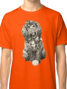Cockapoo with a ball (Orange) Classic T-Shirt
