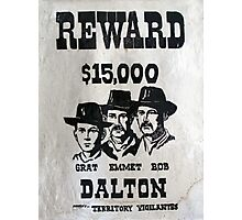 Vintage Dalton Gang Wanted Poster Photographic Print