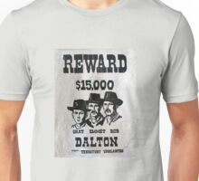 Vintage Dalton Gang Wanted Poster Unisex T-Shirt