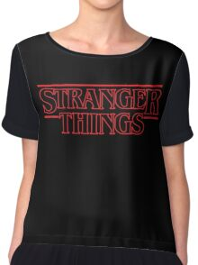 Stranger Things Classic Title :  RED OUTLINE VARIANT Chiffon Top