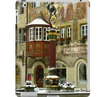 Historic Fountain in Stein am Rhein iPad Case/Skin
