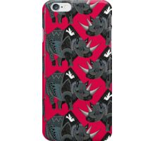 rhinoceros red iPhone Case/Skin