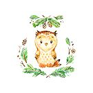 Wise Little Owl is one of the Forest Friends nursery art set by Sandra O'Connor