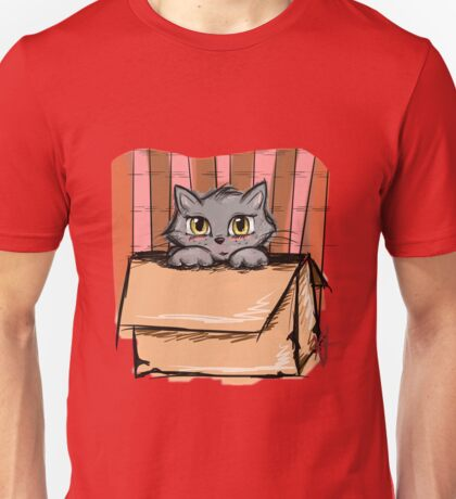 Kitty Box- Digital Art Unisex T-Shirt