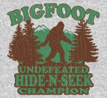 Bigfoot Hide N Seek Champion (vintage distressed) One Piece - Long Sleeve