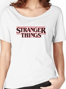 Stranger Things Classic Title :  On White Women's Relaxed Fit T-Shirt