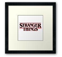 Stranger Things Classic Title :  On White Framed Print