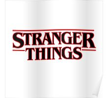 Stranger Things Classic Title :  On White Poster