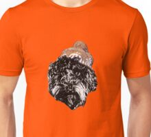 Cockapoo with a Winter Hat (Orange) Unisex T-Shirt