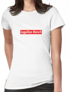 Legalize Ranch - Red Womens Fitted T-Shirt