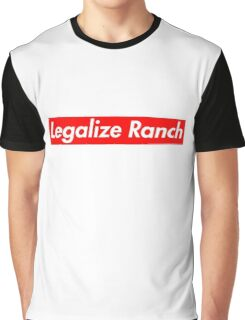 Legalize Ranch - Red Graphic T-Shirt