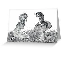 Alice and Caterpillar  Greeting Card