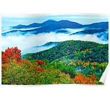 AUTUMN STORM,SUGARLANDS VALLEY Poster