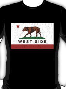 California Pit Bull West Side Flag  T-Shirt