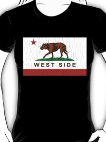 California Pit Bull West Side Flag  T-Shirt