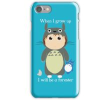 When I grow up, I will be a forester (boy) iPhone Case/Skin