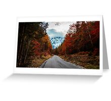 trekking path in an autumn day in the alps Greeting Card