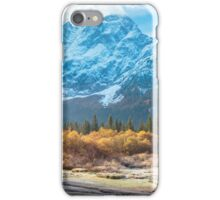 autumn sunrise at the alpine lake iPhone Case/Skin