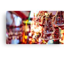 little christmas bells as gifts and decorations for christmas Canvas Print