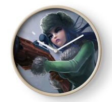 Caitlyn - League Of Legends Clock