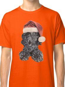 Cockapoo in a Christmas Santa Hat (Orange) Classic T-Shirt