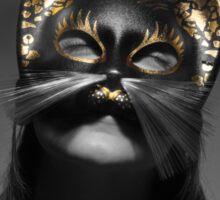 Kitty Mask girl Sticker