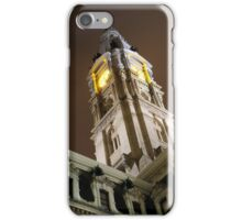 Philadelphia City Hall Clock Tower at Night iPhone Case/Skin