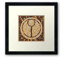 Tau Sigil Framed Print