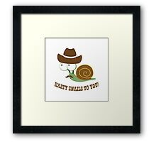 Happy Snails to You! Framed Print