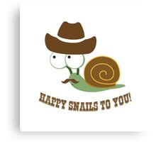 Happy Snails to You! Canvas Print