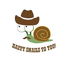 Happy Snails to You! Photographic Print