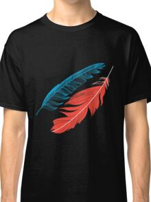 Graphic pattern multicolored feathers Classic T-Shirt