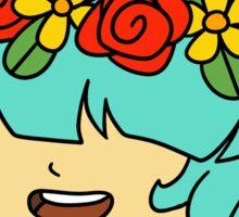Flower Crown Girl Sticker