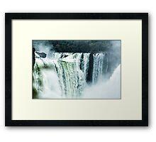 Iguaza Falls - First Look Framed Print