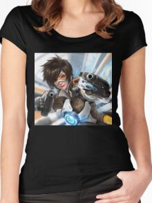 OVERWATCH TRACER Women's Fitted Scoop T-Shirt