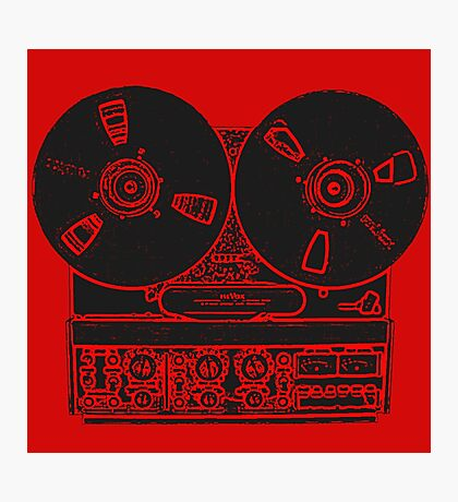 Reel-to-reel red fabulous design! Photographic Print