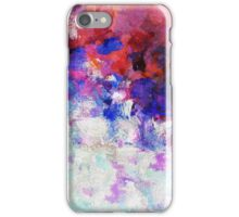 Blue and White Abstract Painting iPhone Case/Skin