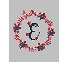 Scandinavian Monogram E Photographic Print
