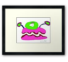 Clyde the clap Framed Print