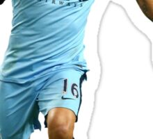 segio aguero manchester city Sticker