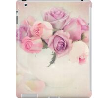A bouquet of pink and purple roses. iPad Case/Skin