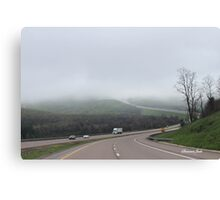 Driving into the Fog Canvas Print
