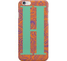 Paisley Print Letter 'H' iPhone Case/Skin