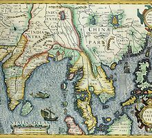 Southern Asian Continent Map 1600s by solnoirstudios