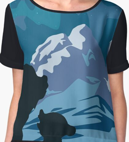 Kenai, Koda & The Aurora Chiffon Top