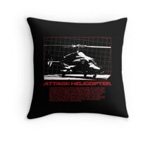 ATTACK HELICOPTER Throw Pillow