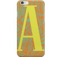 Paisley Print Letter 'A' iPhone Case/Skin