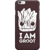 "Guardians Of The Galaxy ""I Am Groot"" Quote (White Top) iPhone Case/Skin"