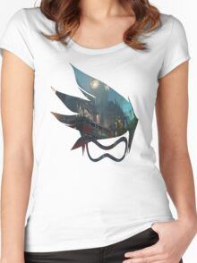 King's Row Women's Fitted Scoop T-Shirt