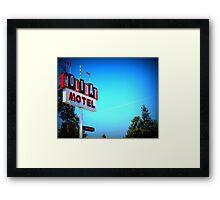Retro Motel...In Bend, Oregon Framed Print